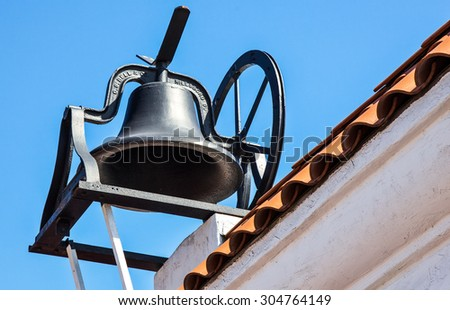 San Diego, U.S.A. - June 3 2011: California, a bell in the Old Town