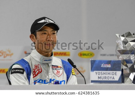 San Diego, USA - April 16, 2017: Yoshihide Muroya during press conference the Red Bull Air Race World Championship.