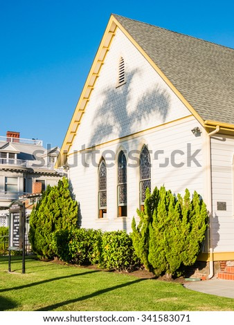 SAN DIEGO, USA - SEPTEMBER 19: church in Coronado Island on September 19, 2015 in California, United States. San Diego has estimated population of 1,381,069 as of July 1, 2014.