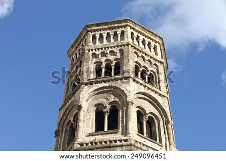 San Donato church belfry Genoa Italy - stock photo