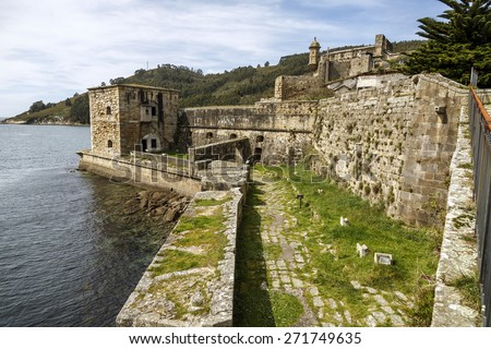 San Felipe castle in Ferril Galicia, Spain - stock photo