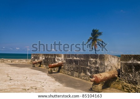 "San Felipe de Barajas casle in  ""Cartagena de indias"" Colombia - stock photo"