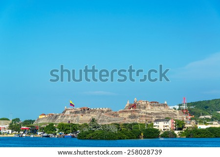 San Felipe de Barajas fortress in Cartagena, Colombia is one of the cities principal attractions - stock photo