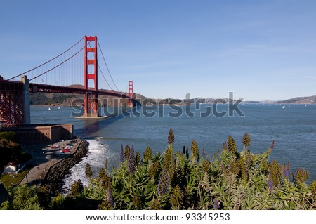 San Francisco Bay and Golden Gate Bridge