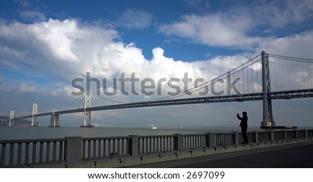 San Francisco Bay Bridge - stock photo