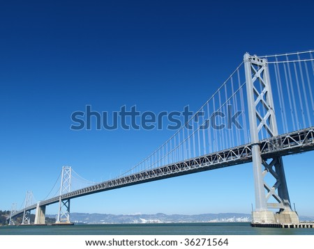 San Francisco Bay Bridge - stock photo