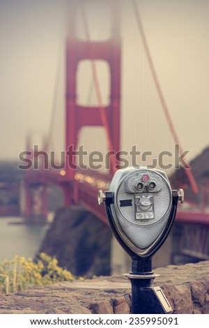 San francisco Binocular - stock photo