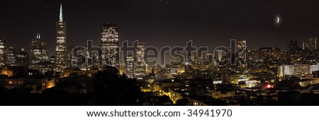 san Francisco by night - stock photo