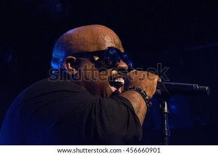 SAN FRANCISCO, CA - JULY 21, 2016: CeeLo Green in concert at The Independent in San Francisco, CA
