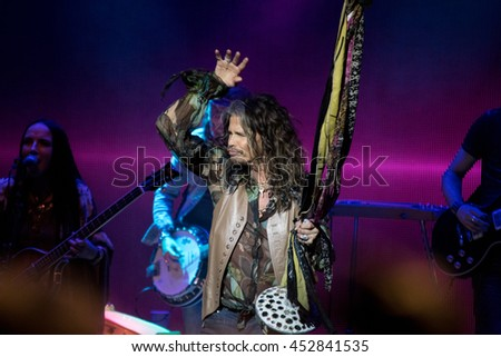 SAN FRANCISCO, CA - JULY 14, 2016 - Steven Tyler in concert at The Masonic in San Francisco, CA