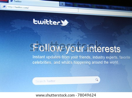 SAN FRANCISCO, CA  - MAY 25: After months of rumors, Twitter has finally announced that it has acquired third-party client TweetDeck on May 25, 2011 in San Francisco, CA - stock photo