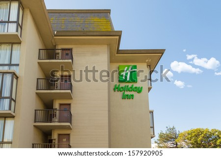 SAN FRANCISCO, CA - SEP 20: Holiday Inn Hotel on September 20, 2013 in San Francisco. Holiday Inn is a multinational brand of hotels forming part of the British-based InterContinental Hotels Group - stock photo