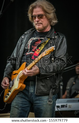 San Francisco, CA USA - August 11, 2013: Daryl Hall performing at the 2013 Outside Lands music festival in Golden Gate Park.  - stock photo