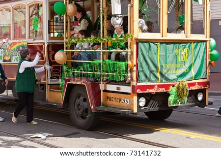 SAN FRANCISCO, CA, USA - MARCH 12:  The 160th Annual St. Patrick's Day Parade, March 12, 2011 in San Francisco, CA, USA
