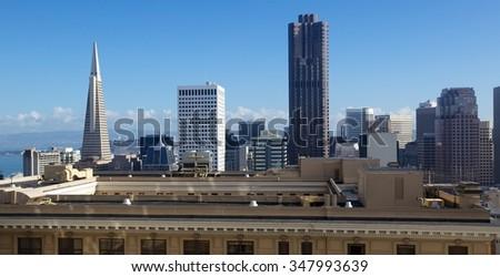 San Francisco, California skyline - stock photo