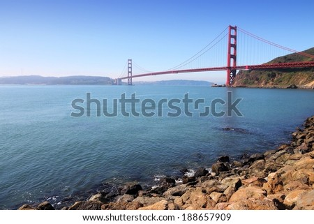 San Francisco, California, United States - Golden Gate Bridge.