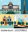 San francisco California USA. - stock vector