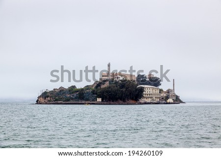 SAN FRANCISCO, CALIFORNIA/USA - August 7 : View of Alcatraz prison near San Francisco USA on August 7, 2011