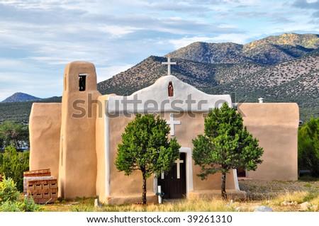 San Francisco Church in Golden, New Mexico - stock photo