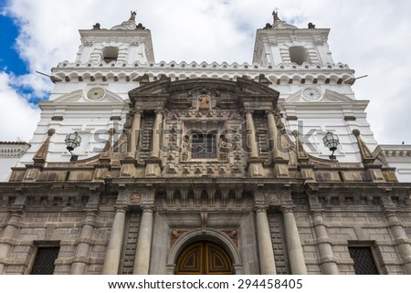 San Francisco Church, Quito (Ecuador) - stock photo
