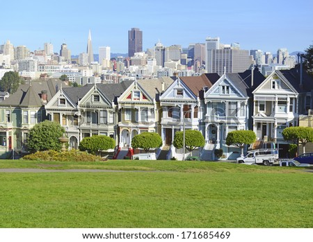 SAN FRANCISCO - CIRCA DECEMBER 2013. The housing market continue its strength across most major cities. San Francisco, is one of the cities benefiting from the recent rise in home prices. California.