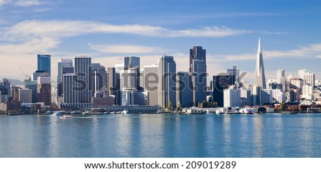 San Francisco City Downtown, California - stock photo
