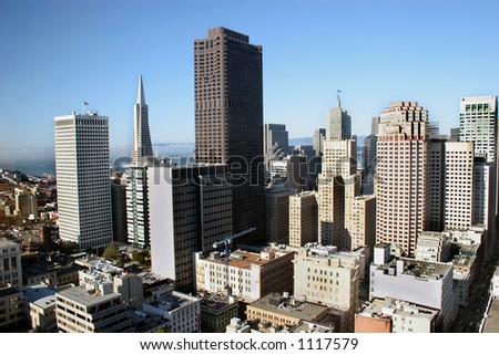 San Francisco city skyline - stock photo