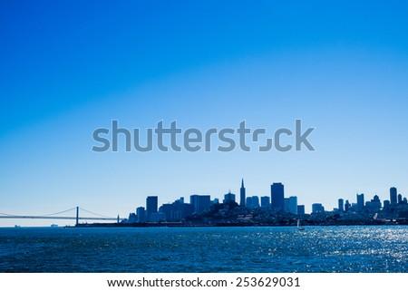 San Francisco Cityscape & Bay Bridge - stock photo
