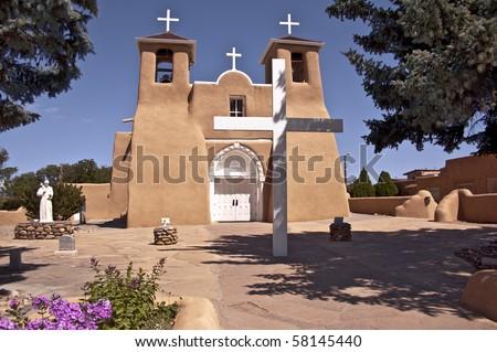 San Francisco de Assisi church in Rancho de Taos, New Mexico - stock photo