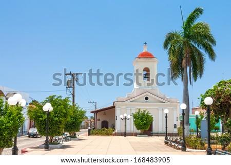 San Francisco de Paula Church (Iglesia de San Francisco de Paula) at Plaza Carillo in city center, Trinidad, Cuba - stock photo