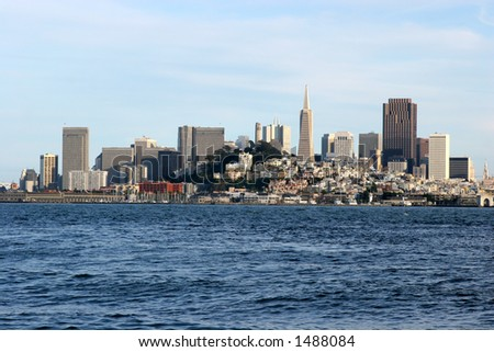 San Francisco downtown – a view from Alcatraz island.