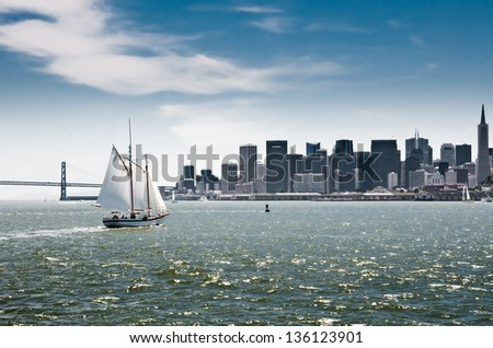 San Francisco downtown cityscape, California, USA - stock photo