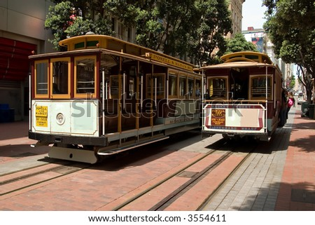 San Francisco Famous transportation - stock photo