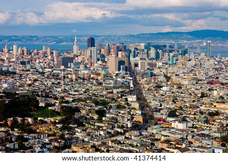 San Francisco from above - stock photo