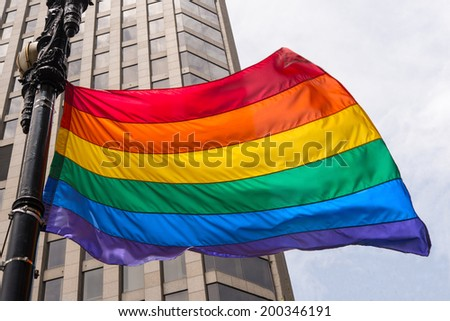San Francisco Gay Flag Blowing
