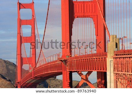 San Francisco Golden Gate Bridge - stock photo
