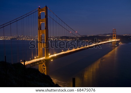 San Francisco Golden Gate Bridge at sunset