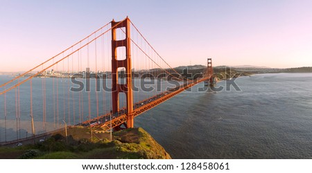 San Francisco Golden Gate: Ultra high resolution panorama - stock photo