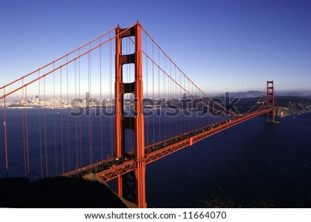 San Francisco landmark - Golden Gate bridge - stock photo