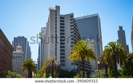 SAN FRANCISCO MAY 2: Skyscrapers on May 2nd, 2015 in San Francisco, California, United States