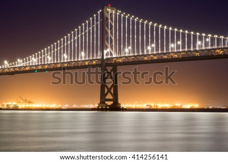 San Francisco-Oakland Bay Bridge, Night