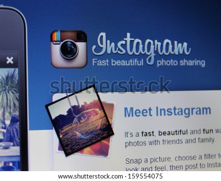 SAN FRANCISCO - OCT 22: The photo-sharing social network, which has north of 150 million monthly active users, is coming to Windows Phone within weeks, according to Nokia. Facebook owns Instagram. - stock photo