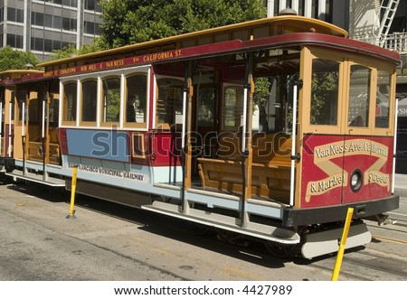 San Francisco's Cable Car on California Street - stock photo