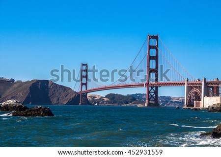 San Francisco's Golden Gate Bridge, as seen from Baker Beach