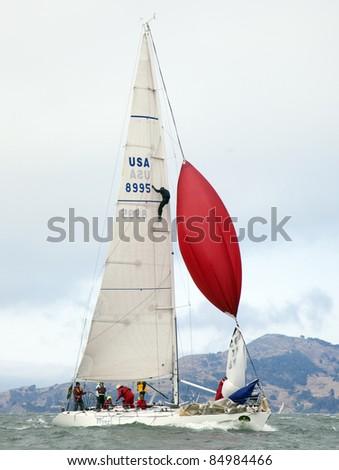 SAN FRANCISCO - SEPT 10: Rolex Big Boat Series, Race 5, Sept 10, 2011, San Francisco. - stock photo