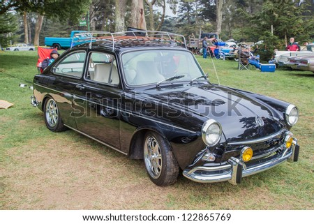 SAN FRANCISCO - SEPTEMBER 29: A 1969 Volkswagen Type 3 Fastback is on display during the 2012 Jimmy's Old Car Picnic in Golden Gate Park in San Francisco on September 29, 2012 - stock photo