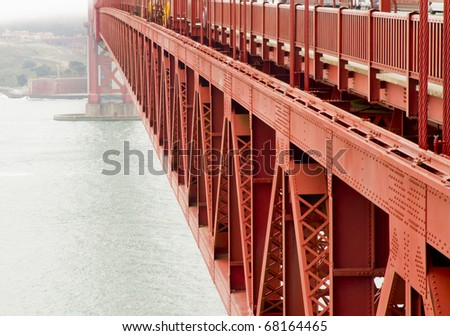 San francisco side of the Golden Gate bridge in San Francisco isolated on white - stock photo