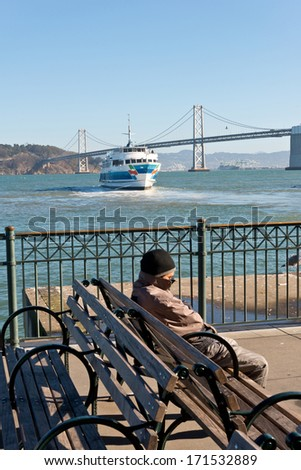 "San Francisco ""Sitting at the Dock of the Bay"" - stock photo"