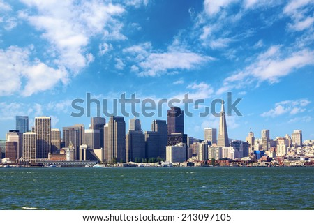 San Francisco skyline, California, US - stock photo