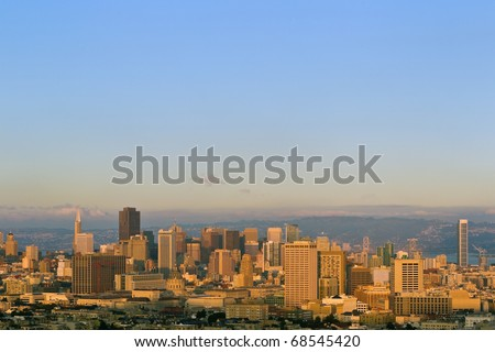 San Francisco skylines: view from Corona Heights Park.